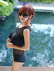 Sexy Black Mesh Boxer Pièce de maillot de bain des femmes