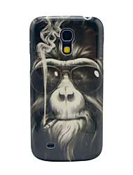 Smoking Monkey Pattern Hard Back Cover Case for Samsung Galaxy S4 Mini I9190