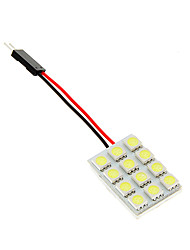 10 * 31 * 23mm dôme 12 LED Light Car intérieur de l'ampoule de la lampe flexible 5050 12V