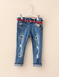 Girl's Fashion Jeans Lovely Princess Summer  Jeans