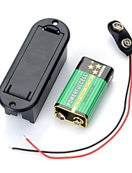 9V Battery with Plastic Cover Case Compartment  (1Pcs)