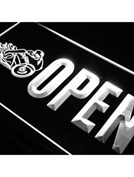 OPEN Motorcycles Auto Shop Car Neon Light Sign