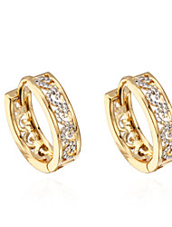 Binli Women's 18K Gold Plated Zircon Earrings