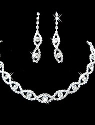 Jewelry Necklaces / Earrings Bridal Jewelry Sets Silver Plated Imitation Diamond / Rhinestone Engagement / Gift / Wedding / PartyAlloy /