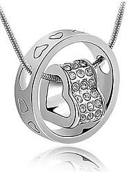 Silk Road Elegant Silver Heart Design Pendant(With Necklace)(Silver)