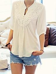 женская v шеи вышивка блуза