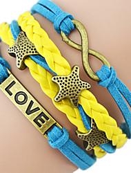 Starfish Романтический Пароль Бесконечная Любовь пятизвездочный многослойный браслет
