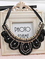 Pengchen Diamond Beads Color Necklace (Black)