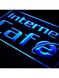 I156 ABERTO Internet Café Bar Pub Game Room Luz Sign