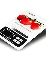 LCD Digital Kitchen Scale (5kgx1g, 2xAA batterie)