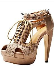 BC Suede Women's Stiletto Heel Sandals