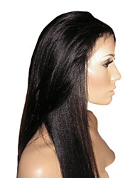 16inch Human Hair Full Lace Wig Yaki Hair In Stock Hot Sell