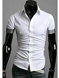 Männer Kontrast Farbe Lässige Short Sleeve Shirt