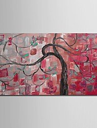Hand Painted Oil Painting Landscape Knife Painted Red Tree with Stretched Frame