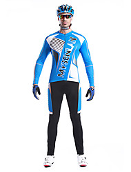 Mysenlan Men's Long Sleeve Bike Breathable Thermal / Warm Quick Dry Windproof Wearable Clothing Sets/Suits Cotton 100% PolyesterSpring