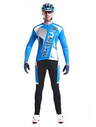 MYSENLAN Vélo/Cyclisme Ensemble de Vêtements/Tenus Homme Manches longuesRespirable / Séchage rapide / Vestimentaire / Pare-vent / Garder
