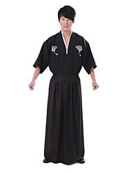 Costume ethnique de courageux samouraï japonais noir Polyester Hommes