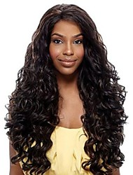 24inch Beautiful Wave High Temperature Synthetic Front Lace Wig 6 Color Can be Choosed