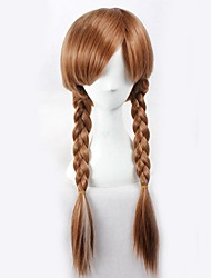 Frozen Princess Anna White Highlight Brown Cosplay Wig