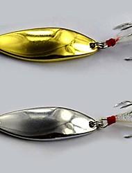10 pc Esche rigide / Cucchiaio / Esca Esche rigide / Cucchiai 7 g/1/4 Oncia mm pollice,Metallo Pesca di acqua dolce