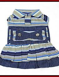 Vintage Jacquard Cotton Cloth  Dress for Pets Dogs