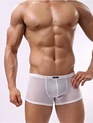 Homme Solide Slip Boxer-Polyester Spandex