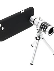 Zoom 12X Tele Aluminium Handyobjektiv mit Stativ für Samsung Note2