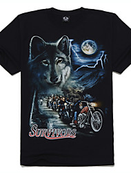 motore m-impero in cotone wolf t-shirt stampata