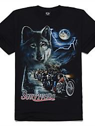 motor de lobo algodão m-império impresso t-shirt
