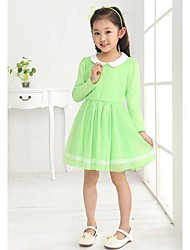 Casual solide Couleur de robe de fille