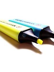 Gelbe und blaue Leuchtstoff-Ink Marker Pen Textmarker (Gelb / Blau, 2-Pack)