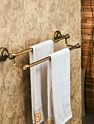 Towel Bar Antique Bronze Wall Mounted 60*14cm(23.62*5.51inch) Brass Antique