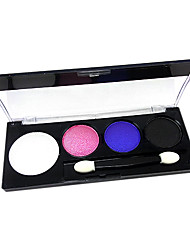 4 Eyeshadow Wet Eyeshadow palette Powder Normal