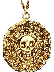 Antique Gold Skull Pendant Necklace Men Fashion Vintage Necklace Jewelry Christmas Gifts