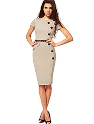 Missmay Womens Business-Bleistift Bodycon formale Abend-Cocktail-Party-Kleid