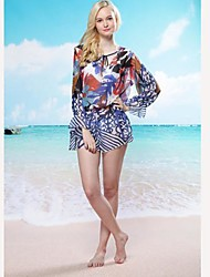 Women's Straped Cover-Ups , Floral Chiffon