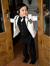 Serge Ring Bearer Suit - 5 Pieces Includes  Jacket / Shirt / Vest / Pants / Bow Tie
