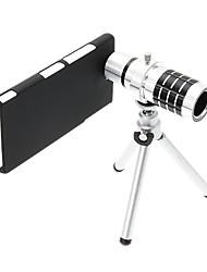 Zoom 12X Tele Aluminium Handyobjektiv mit Stativ für Sony L36H