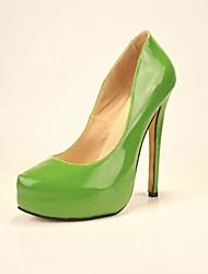 bc zandkleur van lakleer vrouwen stiletto hak platform schoenen