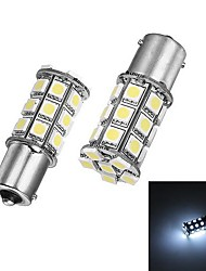 Merdia 1156 5W 27x5050SMD LED de luz branca para a Light backup Car / direcção (24V / A par)