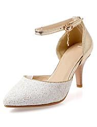 Sparkling Glitter Women's Stiletto Heel Heels Pumps/Heels with Buckle Shoes(More Colors)