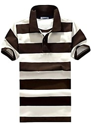 Men's Stripes Lapel Polos