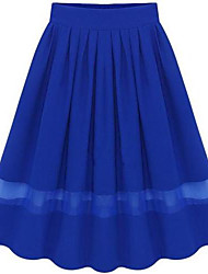 Women's Black/Blue/Red Skirts , Beach/Casual Maxi