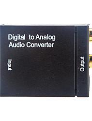 2 RCA hembra a Coaxial + Toslink Hembra digital al convertidor audio análogo