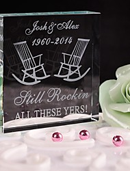 Cake Topper Personalized Crystal Anniversary / Bridal Shower / Baby Shower / Quinceañera & Sweet Sixteen / Birthday / Wedding White
