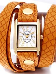 Fashional pu banda europea de Time100 Señora y popular reloj de cuarzo correa larga Espárragos estadounidense