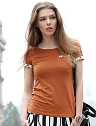 Женская рубашка, с круглым воротом, в британском стиле