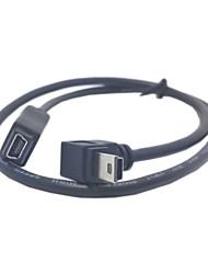 GPS Mini USB 5Pin de 90 degrés vers le bas Direction Mâle Femelle angle de câble de rallonge 50cm
