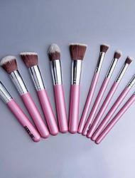 Beauty 10 Pcs Makeup Brush Set Tools Make-up Wool Make Up Pink SV003637
