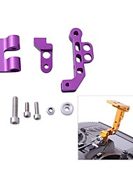 CNC Aluminum Alloy FPV Monitor Mounting Bracket for Transmitters in Purple Yellow Silver